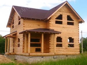 Строительство дома из  нестроганного бруса