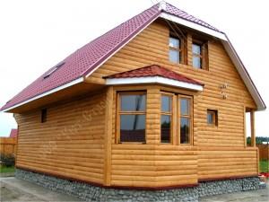 Дом из бруса, отделка - блок-хаус