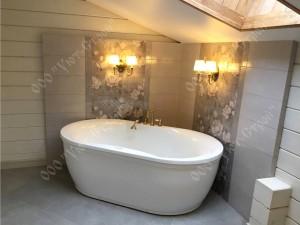 Внутренняя отделка и установка сантехники ванной комнаты