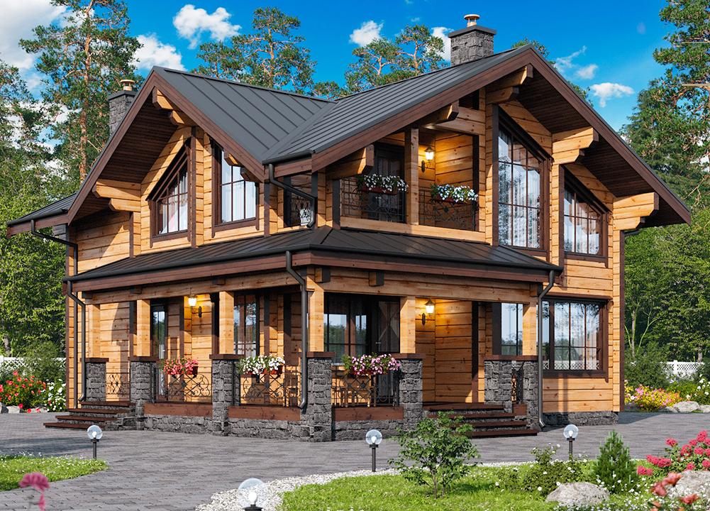 как красивые деревянные дома и коттеджи проекты фото мире было человека