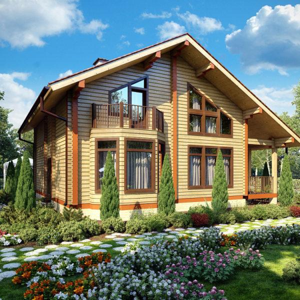 Проект дома из профилированного бруса камерной сушки