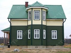 Дом из бруса с отделкой имитацией бруса