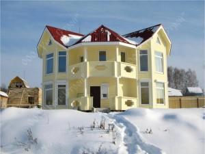 Дом из бруса, отделка сайдингом