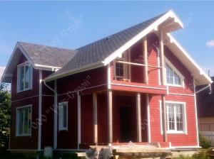 Дом из бруса, отделка фасадной доской